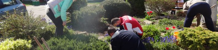 Práca na dvore - okopávanie a sadenie v skalke (21.04. 2020) - DSC02661